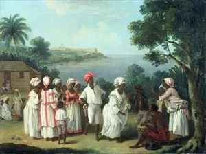 Famous paintings of Black Art: A Negroes' Dance on the Island of Dominica