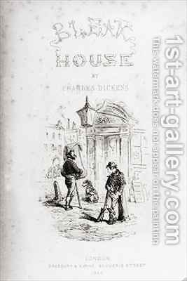 Title page of 'Bleak House' by Hablot Knight Browne - Reproduction Oil Painting