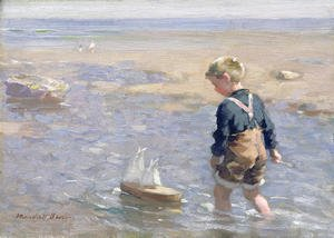 Realism painting reproductions: The Toy Boat