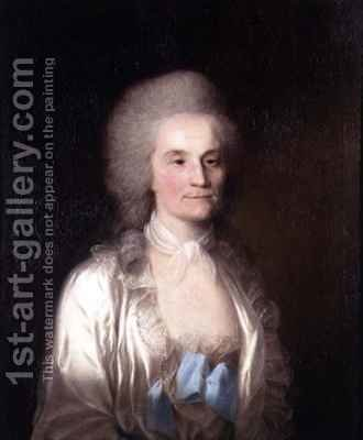 Portrait of Anne Francis, nee Grand, wife of Augustin Prevost by (after) Brown, Mather - Reproduction Oil Painting
