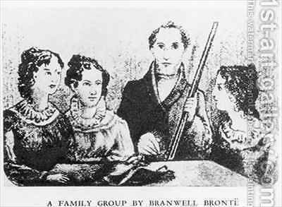 The Bronte Family by (after) Bronte, Patrick Branwell - Reproduction Oil Painting
