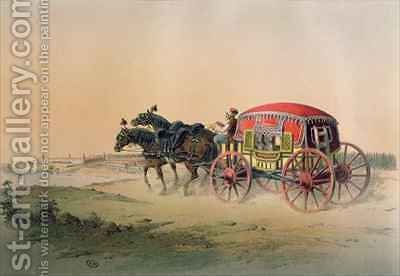 Turkish carriage on the banks of the Bosphorus by (after) Brindesi, Jean - Reproduction Oil Painting