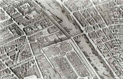 Plan of Paris, known as the 'Plan de Turgot' 4 by (after) Bretez, Louis - Reproduction Oil Painting