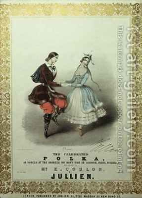 The Celebrated Polka, song sheet by (after) Brandard, John - Reproduction Oil Painting