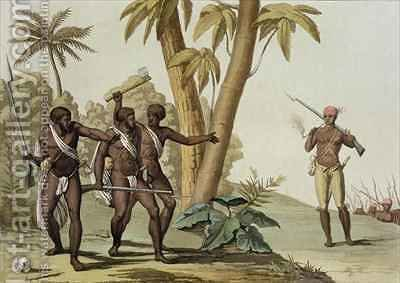 British Guyana Surinam, the Slave Rebellion by (after) Bramati, G. - Reproduction Oil Painting