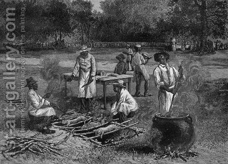 A Southern Barbecue by (after) Bradley, Horace - Reproduction Oil Painting