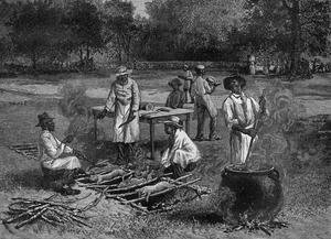 Realism painting reproductions: A Southern Barbecue