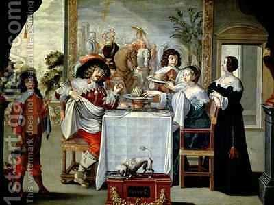 The Five Senses - Taste by (after) Bosse, Abraham - Reproduction Oil Painting