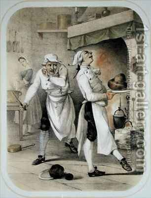 Envy in the Kitchen by (after) Louis Leopold Boilly - Reproduction Oil Painting
