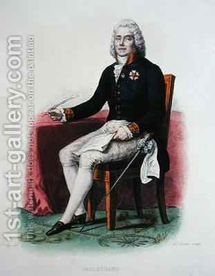 Portrait of Charles Maurice de Talleyrand-Perigord (1754-1838) at his desk by (after) Boilly, Julien Leopold - Reproduction Oil Painting