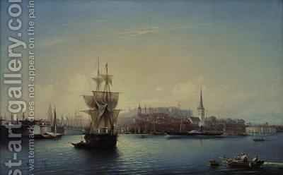 Tallinn Harbour by Aleksei Petrovich Bogolyubov - Reproduction Oil Painting