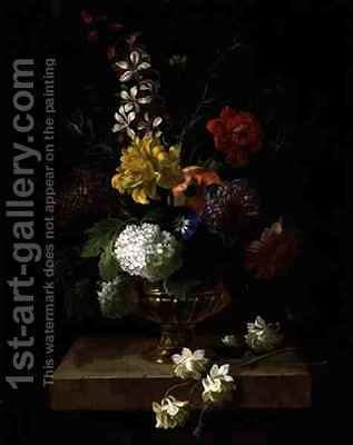 Still Life of Flowers in an Urn by (after) Boggi, Giovanni - Reproduction Oil Painting