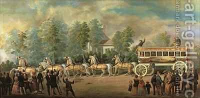 Coach 76 of the Knickerbocker Line, Brooklyn by Henry Boese - Reproduction Oil Painting