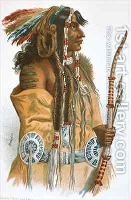 A Mandan Indian by (after) Bodmer, Karl - Reproduction Oil Painting