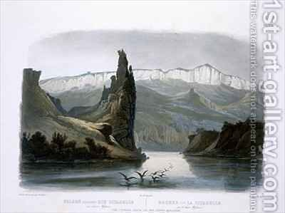 The Citadel Rock on the Upper Missouri by (after) Bodmer, Karl - Reproduction Oil Painting