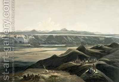 View of the Rocky Mountains by (after) Bodmer, Karl - Reproduction Oil Painting