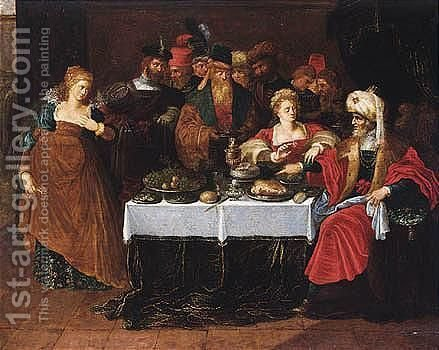 The Feast Of Herod by (after) Frans II Francken - Reproduction Oil Painting