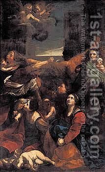 The Massacre Of The Innocents by (after) Guido Reni - Reproduction Oil Painting