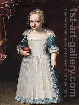 Portrait Of A Young Boy, Said To Be The Infant Francois Hannibal, Duke Of Destres, Marechale Of France (D.1670) by (after) Claude Deruet - Reproduction Oil Painting