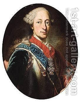 Portrait Of Maximilian III Joseph (1727-1777), Elector Of Bavaria by (after) Georg Desmarees - Reproduction Oil Painting
