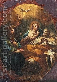 The Death Of Saint Joseph by (after) Corrado Giaquinto - Reproduction Oil Painting