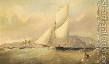 Yacht Racing Off The Lighthouse, Howth by (after) Arthur Wellington Fowles - Reproduction Oil Painting