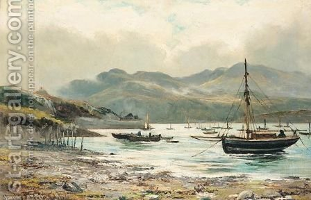 The Harbour Barmouth by Henry Hadfield Cubley - Reproduction Oil Painting