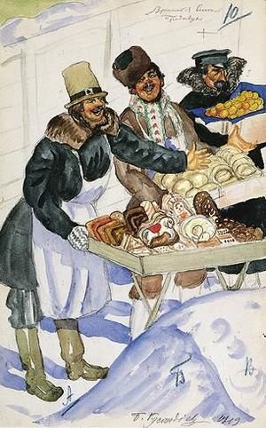 Famous paintings of Desserts: The Bagel Vendors
