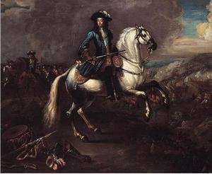 Famous paintings of Horses & Horse Riding: William III At The Battle Of The Boyne