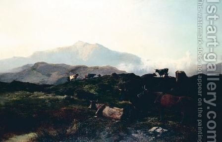 Morning On The Welsh Hills by Alfred Walter Williams - Reproduction Oil Painting