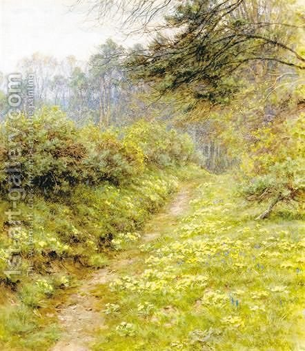The Primrose Path Of Dalliance, Farringford by Helen Mary Elizabeth Allingham, R.W.S. - Reproduction Oil Painting