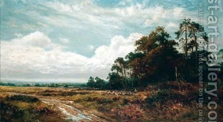 September Picnic, Banstead by (after) Benjamin Williams Leader - Reproduction Oil Painting