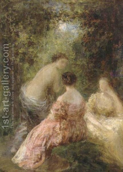 Causerie Dans Le Parc by Ignace Henri Jean Fantin-Latour - Reproduction Oil Painting