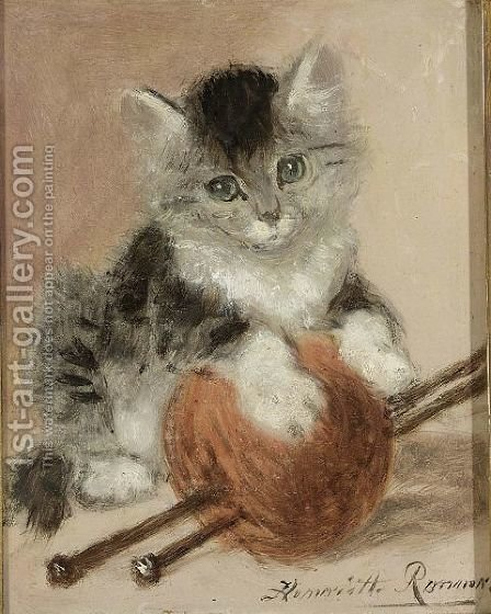 Innocence by Henriette Ronner-Knip - Reproduction Oil Painting
