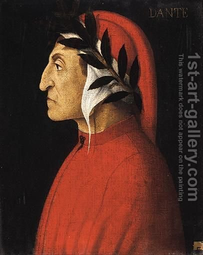 Bust Portraits Of Ariosto, Dante And Sannazaro by Italian School - Reproduction Oil Painting