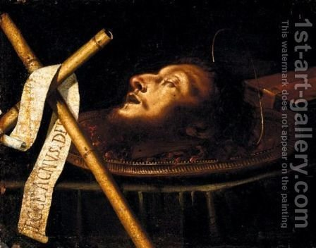 The Head Of John The Baptist by (after) Francesco Del Cairo - Reproduction Oil Painting