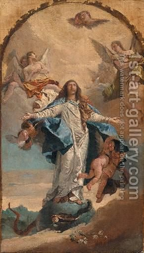 The Assumption Of The Virgin by (after) Giovanni Battista Tiepolo - Reproduction Oil Painting