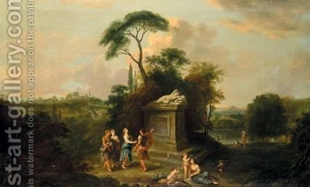 An Arcadian Landscape by (after) Francesco Zuccarelli - Reproduction Oil Painting