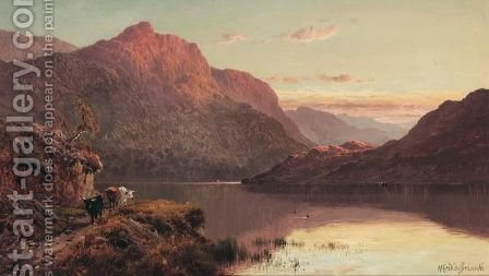 The Banks And Braes O' Bonny Doon by Alfred de Breanski - Reproduction Oil Painting
