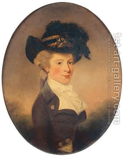 Portrait Of Dorothy Wylde (1757-1795) by (after) Lewis Vaslet - Reproduction Oil Painting