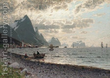A Norwegian Fjord 6 by Adelsteen Normann - Reproduction Oil Painting