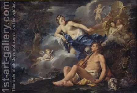 Diana And Endymion by Giovanni Gioseffo da Sole - Reproduction Oil Painting