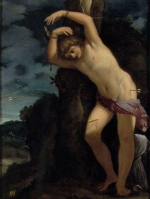 Famous paintings of Clouds & Skyscapes: Saint Sebastian