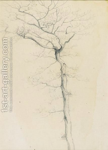 A Tree Study by Henry Farrer - Reproduction Oil Painting