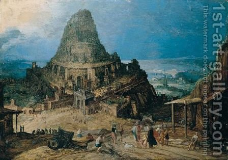 The tower of Babel 2 by (after) Hendrick Van Cleve - Reproduction Oil Painting