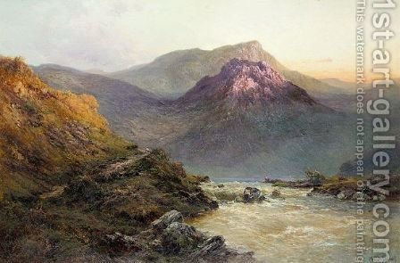 The Brander Pass N.B. by Alfred de Breanski - Reproduction Oil Painting