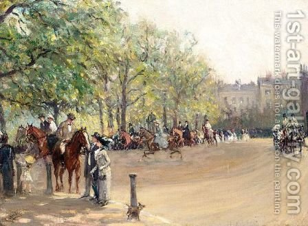 In The Park by Albert Jnr. Ludovici - Reproduction Oil Painting