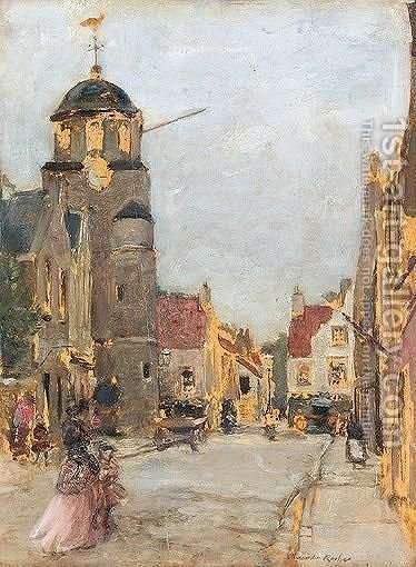 Street Scene by Alexander Ignatius Roche - Reproduction Oil Painting