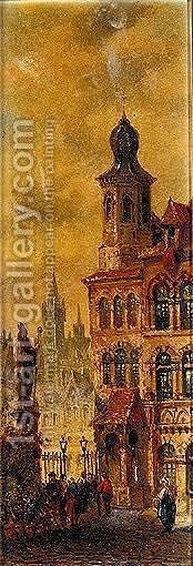 Nuremburg by (after) Felice A. Rezia - Reproduction Oil Painting