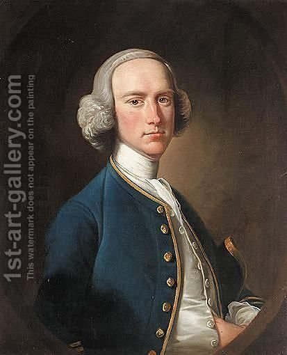 Portrait Of George Hill, Sergeant At Law (1716-1808) by (after) Henry Pickering - Reproduction Oil Painting